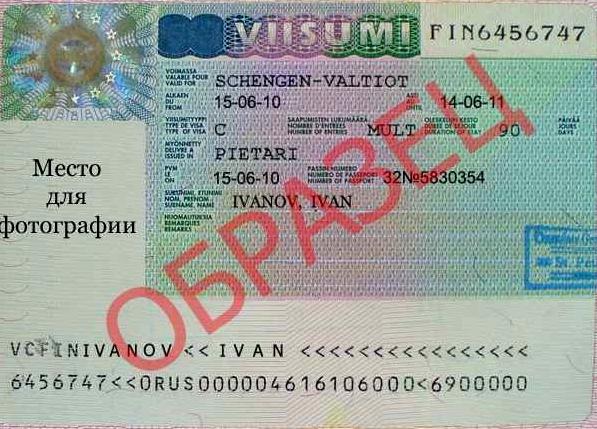 Образец шенгенской мультивизы